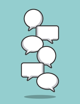 Kommunikation sprechblase