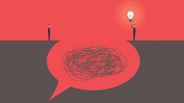 Kommunikation und problemlösung. gesprächskonzept sprechblasen vektor-illustration