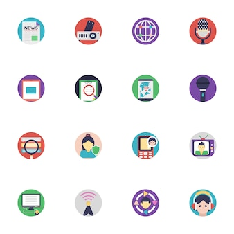 Kommunikations-ikonen-sammlung