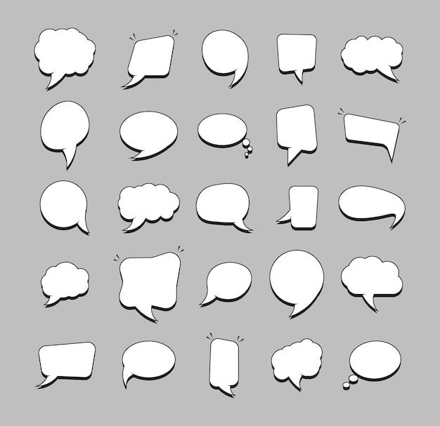 Kommunikationsblasen im papierstil