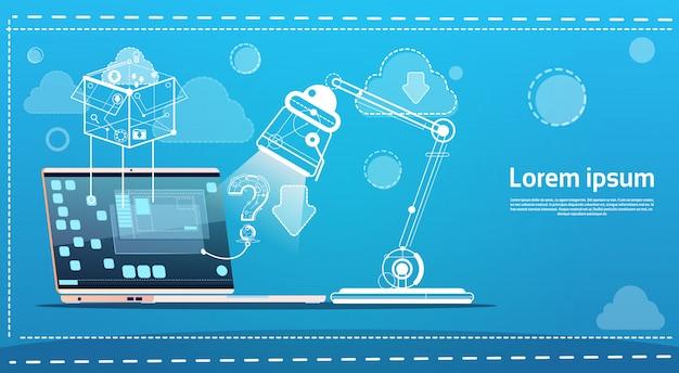 Kommunikationskonzept des laptop-computer-chat-sozialen netzes