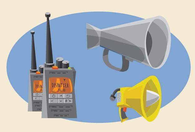 Kommunikationsobjekte für design. vektor-illustrationen
