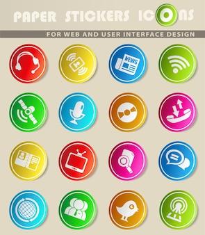 Kommunikationssymbole für websymbole und benutzeroberfläche