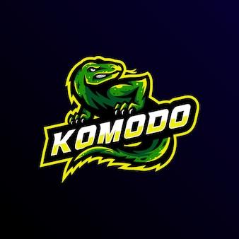 Komodo maskottchen logo esport spiel