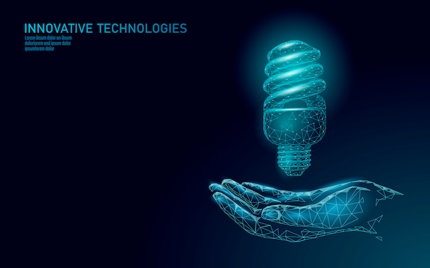 Kompaktleuchtstofflampe spart energie glühbirnenkonzept.