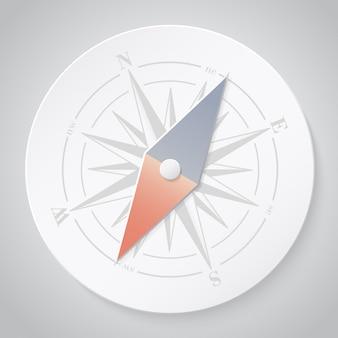 Kompass aus papier