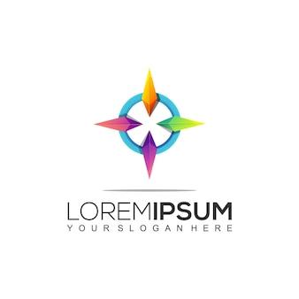 Kompass buntes logo design