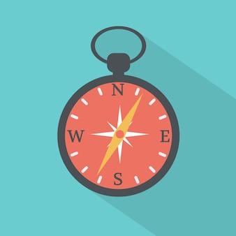 Kompass flache symbol. vektor-illustration