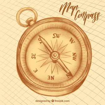 Kompass handgezeichneten design