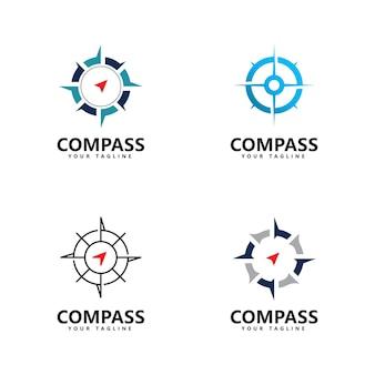 Kompass logo symbol vektor vorlagendesign