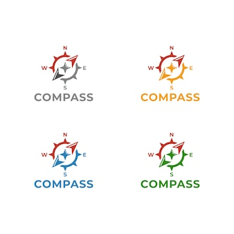 Kompass logo template-vektor-illustrationsdesign