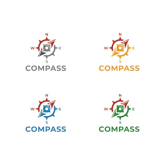 Kompass logo template-vektor-illustrationsdesign