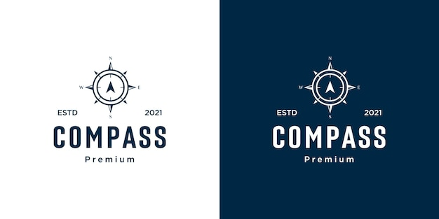 Kompass logo vorlage vektordesigns