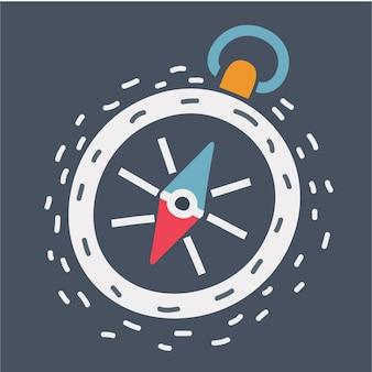 Kompass-symbol im dunkeln
