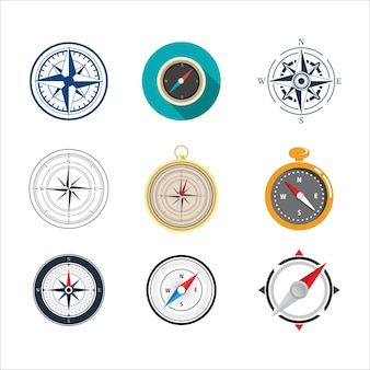 Kompass vektor icon illustration design vorlage