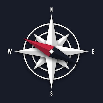 Kompasspfeilabbildung