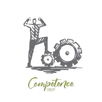 Kompetenzabbildung in hand gezeichnet