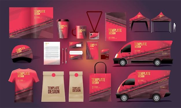 Komplettes corporate identity-paket