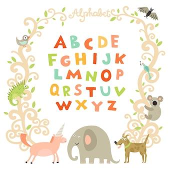 Komplettes kinder-alphabet