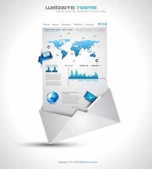 Komplexe origami-website - elegantes design