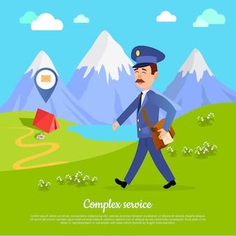 Komplexer service für jeden teil der welt