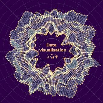 Komplexes datenvisualisierungskonzept. abstrakte vektorgrafik.