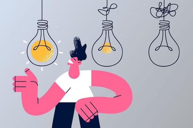 Komplexes und klares ideenkonzept vereinfachen