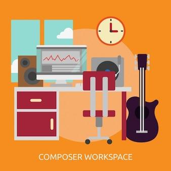 Komponist arbeitsplatz hintergrund