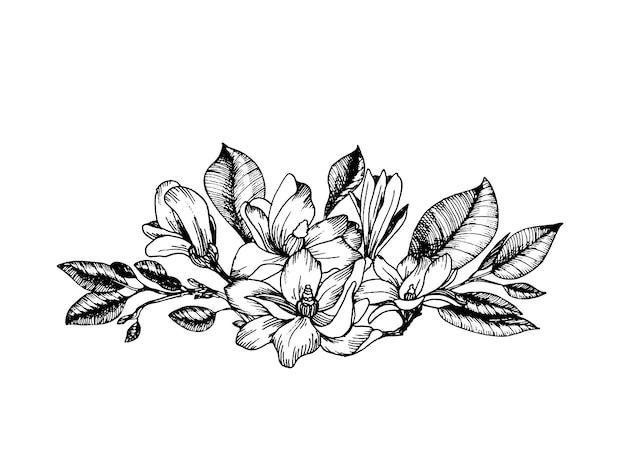 Komposition im gravurstil