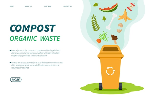 Kompostabfälle. vorlage für organische abfälle im kompostbehälter