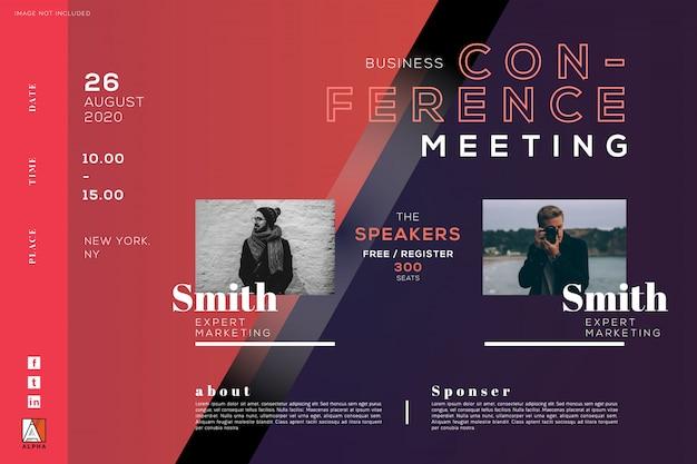 Konferenz business meetingbroschüre