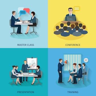 Konferenz-Flat-Set