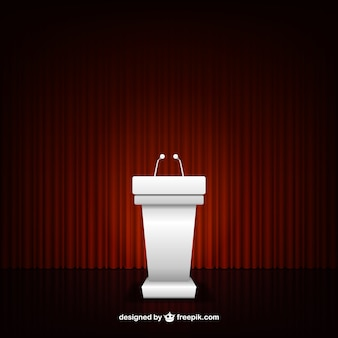 Konferenz podium