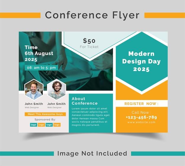 Konferenzflyer mit einzigartigen konzepten
