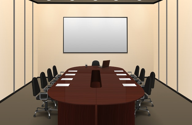 Konferenzraum-innenillustration