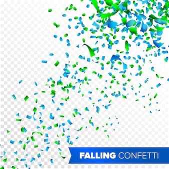Konfetti fallender vektor