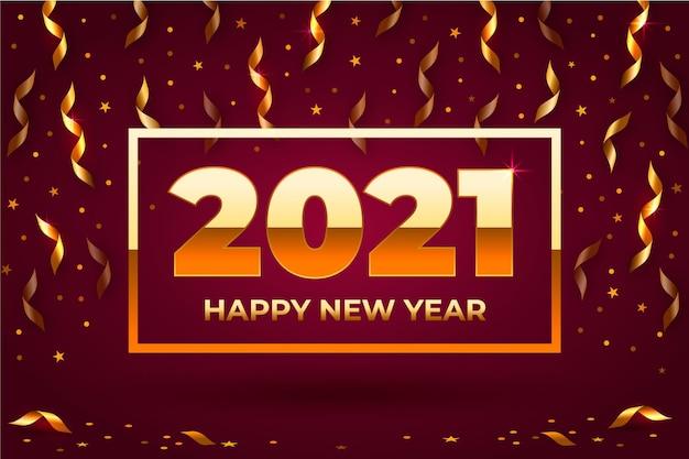 Konfetti hintergrund neues jahr 2021