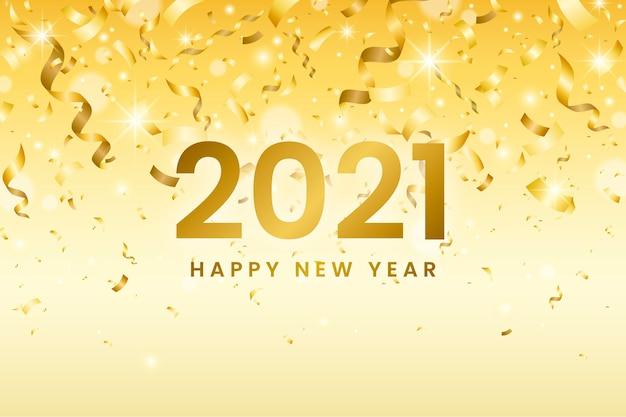 Konfetti neujahr 2021 hintergrund