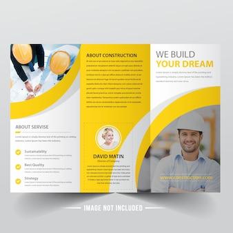 Konstruktion trifold broschüre