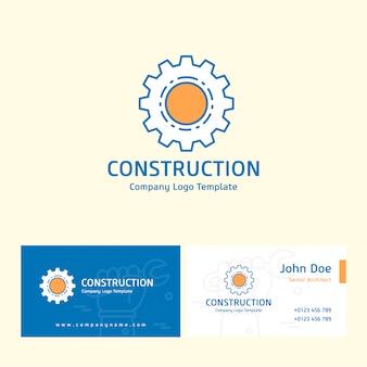 Konstruktionslogo und visitenkarte vorlage