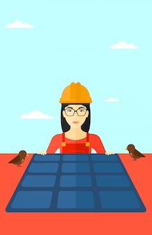Konstruktor mit sonnenkollektor.