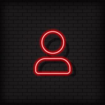 Kontakt-neon-symbol, schaltfläche. anhänger-zeichen. social-media-konzept. vektor auf schwarzem hintergrund isoliert. eps 10.