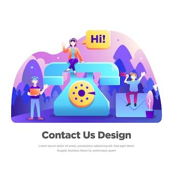 Kontaktieren sie uns illustration