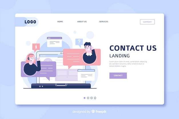 Kontaktieren sie uns landing page template