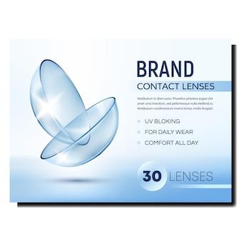 Kontaktlinsen kreative werbung banner