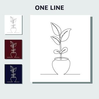 Kontinuierliche einzeilige kunst kann für pflanzen sein, die saatgut anbauen