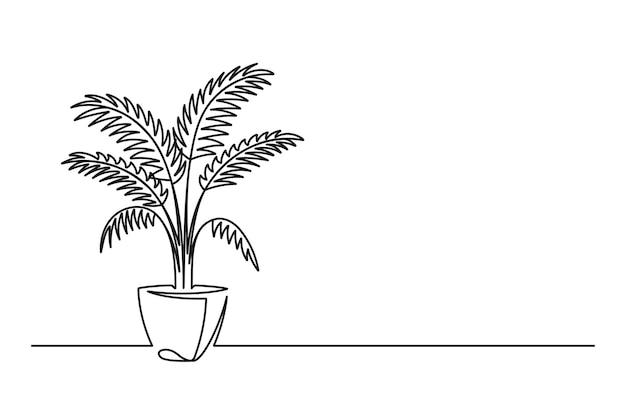 Kontinuierliche florale handzeichnung