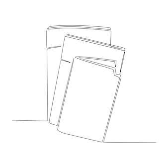 Kontinuierliche strichzeichnung nachrichten zeitung sammlung vektor-illustration