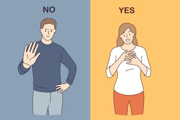 Kontrast emotionen und reaktionen konzept