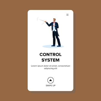 Kontrollsystem und support-geschäftsmann